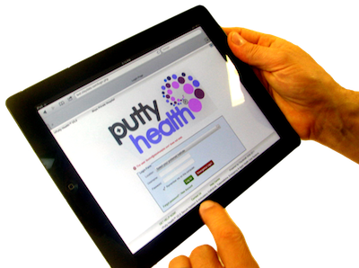 PuttyHealth on the iPad